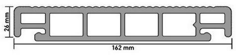 Размеры и структура террасной доски