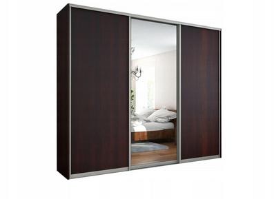 Шкаф тёмный корпус, фасады зеркало