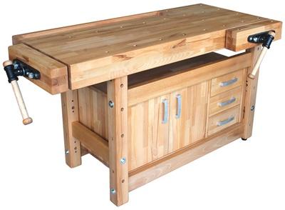 Стол из дерева для мастерской своими рукам