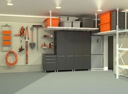 Система хранения под потолком в гараже и мастерской полка