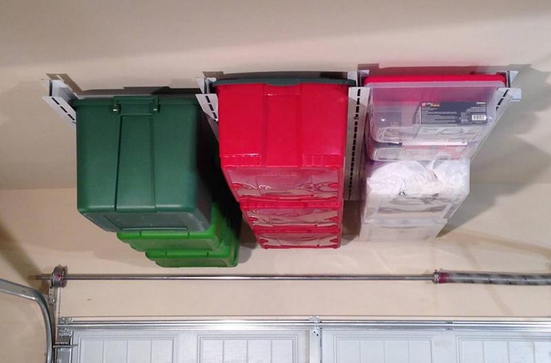 Система хранения под потолком в гараже и мастерской ящики